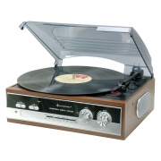 Soundmaster PL186H Retro Radio Turntable System